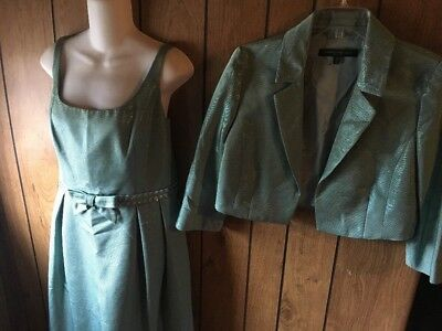 Carmen Marc Valvo Collection 2PC Dress & Jacket Suit Size 12/14