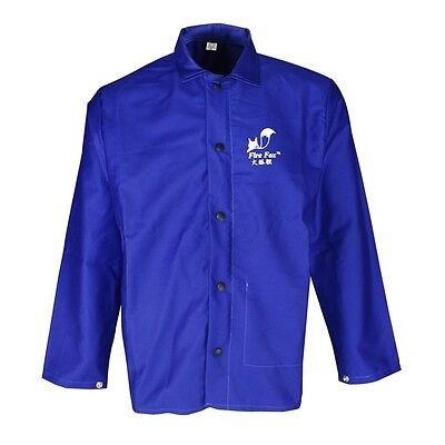 Blue FR Welder Jacket Safety Clothing Flame Retardant Welding Apron