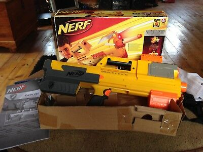 New NERF N-Strike DEPLOY CS-6 Dart BLASTER Rare