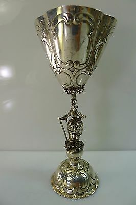 Rare Lovely Old, Germany Stamped 800 Silver Cup / Goblet In Good Condition