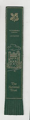 Tattershall Castle. Green Leather English Bookmark.