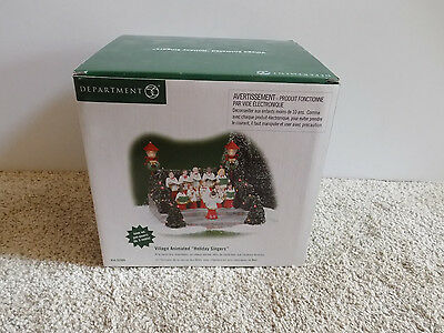 Dept 56 Village Animated Holiday Singers Musical Movements #52505