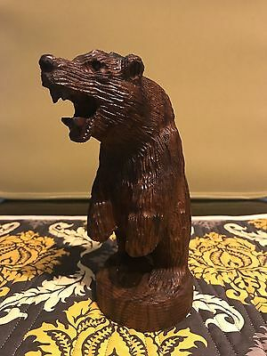 """BEAR Ironwood Carving Animal Collectable Great Condition 6.5"""" x 2.75 x """"2.75"""""""