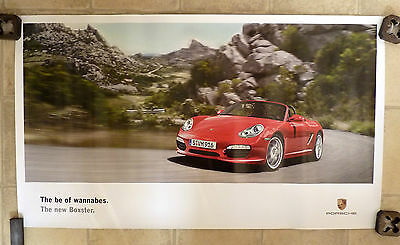 """2008 PORSCHE New Boxster """"The Be of Wannabes"""" OFFICIAL SHOWROOM POSTER BROCHURE"""