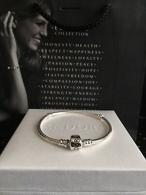 New Genuine Pandora Moments Silver Clasp Bracelet #590702HV RRP£55