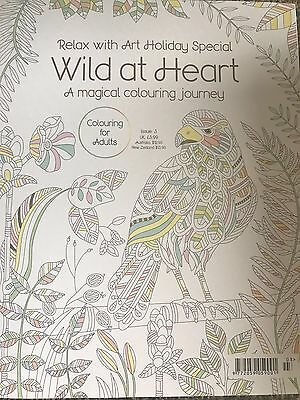 Relax with art holiday special - colouring book for adults - Wild at heart