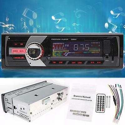 Car Stereo In Dash FM Audio Aux Input Receiver WMA SD USB MP3 Radio Players TO