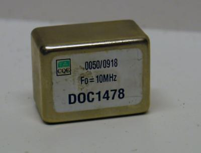 CQE CRYSTAL OSCILLATOR 10MHz, NOS £££ REDUCED TO CLEAR £££