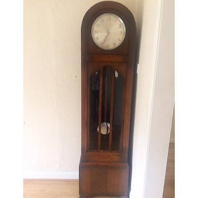 Decp Oak Chiming Grandfather Clock 1930's