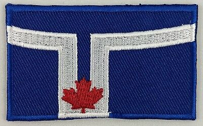 Toronto City Flag Patch Embroidered Iron On Applique
