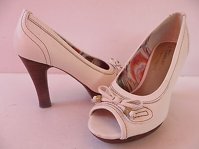 TAMARIS # CHICE PEEPTOES Gr. 38 weiß Damen Mode Schuhe Pumps