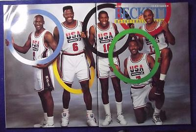 July 1992 Basketball Beckett Issue #24 Olympic Team Jordan on Back Cover NM/MT