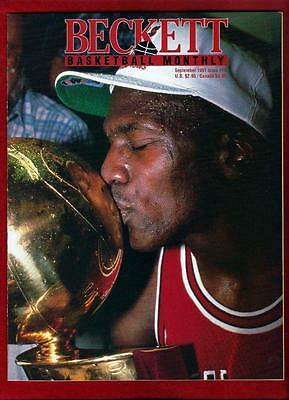 Sept 1991 Basketball Beckett Issue #14 Michael Jordan Cover NM to MINT Condition