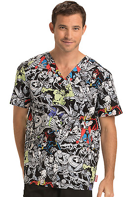 TF623 MAAG Cherokee Tooniforms Men's V-Neck Top Ragnarok Marvel