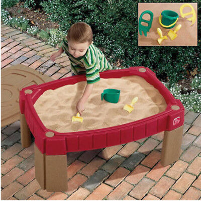 Sand Table Step2 Kids Naturally Playful With Cover Shovel Claw Rake Bucket