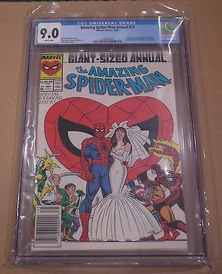 Amazing Spider-Man Annual 21 CGC 9.0 Spider-Man & Mary Jane Cover Marvel