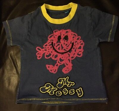 Mr Men Mr Messy Summer Tshirt Top - Age 1-2 Years - Good