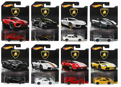 Hot Wheels Lamborghini Diecast Collection Cars Dwf21 Scale 1:64 Set 8