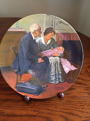 Norman Rockwell Collector Plate Cradle of Love 1980 First Edition Legendary Art