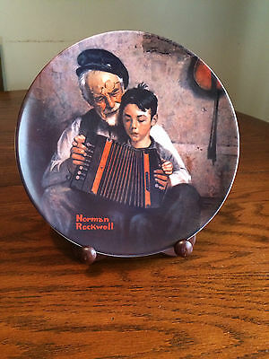 Norman Rockwell Collector Plate The Music Maker 1981 Heritage Collection