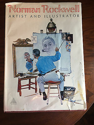 1970 Norman Rockwell Artist and Illustrator LARGE format Hard Cover Book Prints