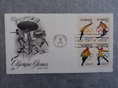 Olympic Games  USA  Official First Day Of Issue 1976