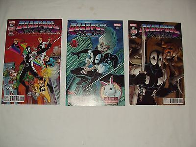 Lot 3 Deadpool Back In Black 2 3 4 - Spider-Man Homage Covers - W/ Digital Codes
