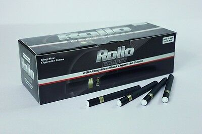 200 ROLLO Eclipse Premium Black Cigarette Tubes With FREE Injector Not Ventti