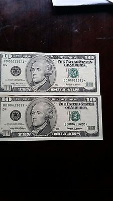 usa $10 star notes....uns..(replacement notes)