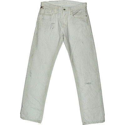 Ralph Lauren Jeans Straight Fit White Destroy Boys W28 L30 NEW D & S Mens