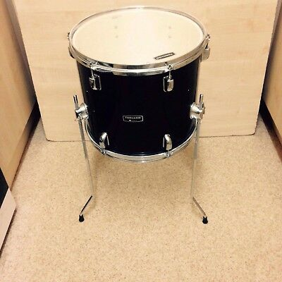 Ludwig element birch 16 x 16 matte black floor tom for 16 x 12 floor tom