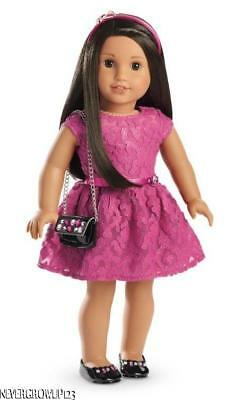 American Girl Merry Magenta Holiday Outfit~Dress~Shoes~Purse~Headband~New