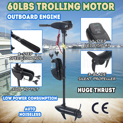 60LBS Electric Trolling Motor Inflatable Boat Fishing Marine Outboard Engine AUS