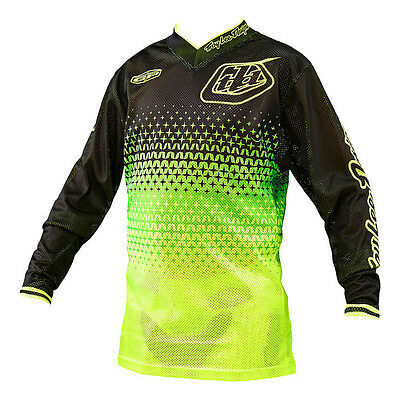Troy Lee Designs GP Air Jersey Starburst Yellow/Black youth X-Large