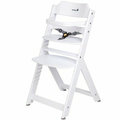 Safety 1st High Chair Baby Feeding Adjustable Timba Basic White Wood 27984310