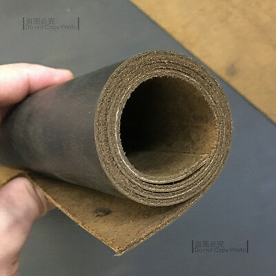1.8-2mm Thick Natural Cowhide Leather Pieces Vintage Pull-up Oil Brown Leather