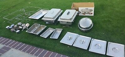 CATERING STAINLESS STEEL CHAFER CHAFING DISH SET catering set lot First Street