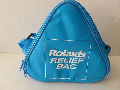 "VINTAGE ROLAIDS ADVERTISTING PREMIUM  ""RELIEF BAG"" - INSULATED CARRY BAG w/strap"