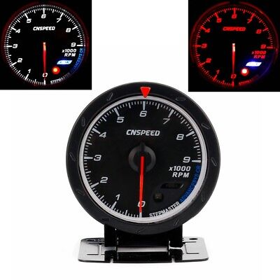 "2.5"" 60MM Car Tachometer Red & White Lighting 0-9000 Rpm Gauge Meter Universal"