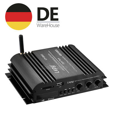 Hi-Fi Stereo 4-Channel Audio Amplifier Bluetooth/USB/SD/FM Digitaler Verstärker