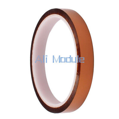 NEW 12mm 1.2cm x 30M Kapton Tape High Temperature Heat Resistant Polyimide