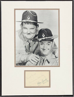 Laurel & Hardy Vintage Signed Autographs 1952