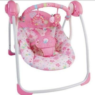 Excellent Condition Bright Starts Blossomy Blooms Portable Swing