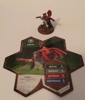 Sonlen Heroscape Swarm of the Marro figure + card replacement piece