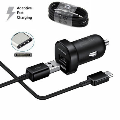 Original Adaptive Fast Car Charger OEM USB Type-C For Samsung Galaxy S8 S8 Plus
