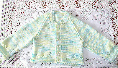 Handmade Knitted Baby Jacket in Paton 4ply baby yarnJ#02