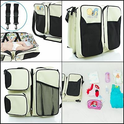 3-1 Diaper Bag Travel Bassinet Baby Changing Station Bed Portable Crib Baby