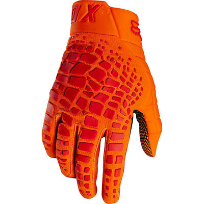 Fox Racing NEW Mx 2018 360 Grav Orange Red Adults Motocross Dirt Bike Gloves