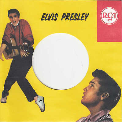 5 FIRMENLOCHCOVER * ELVIS PRESLEY RCA * 5 Repro COVER * NEU * Single Aufwertung!