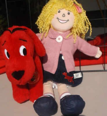 Clifford the Big Red Dog & Emily Elizabeth Plush Stuffed Animal & Doll